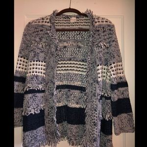 Chico's Patchwork Knit Cardigan